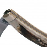 Stag folding knife with pruner blade and end cap